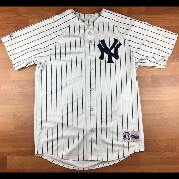 on sale eff29 d55bd Majestic New York Yankees MLB Pin Striped Jersey